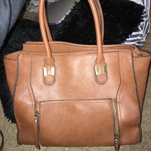 Large chestnut tote purse